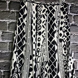 ‼️sale‼️ SUSAN GRAVER A Line Black White Skirt S